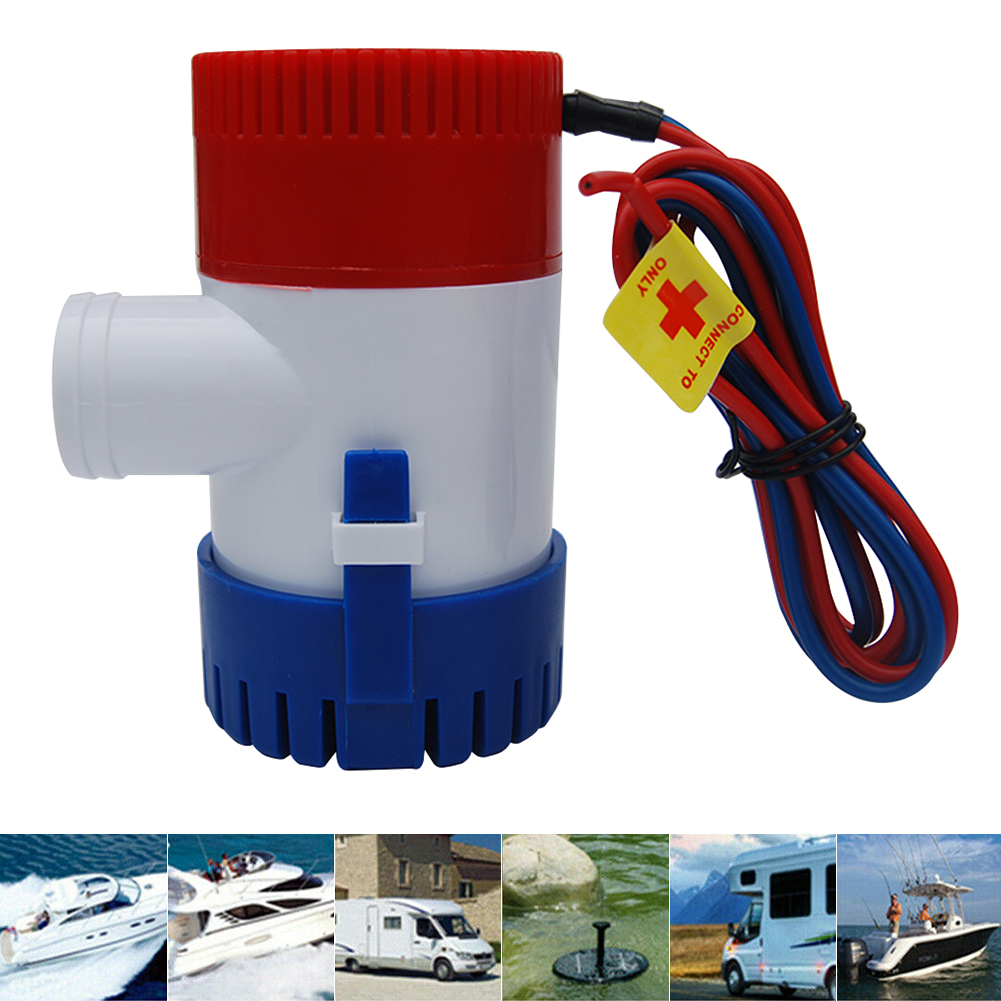 1100GPH 12V Electric Marine Submersible Bilge Sump Water Pump With Switch For Boat