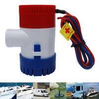 Bomba de agua sumergible Marina eléctrica 1100GPH 12V con interruptor para barco