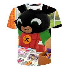 2021 Summer New Bing T Shirt Boys Girls Kawaii 3D Print Anime Rabbit t Shirt Cartoon Casual Fashion Children Clothing