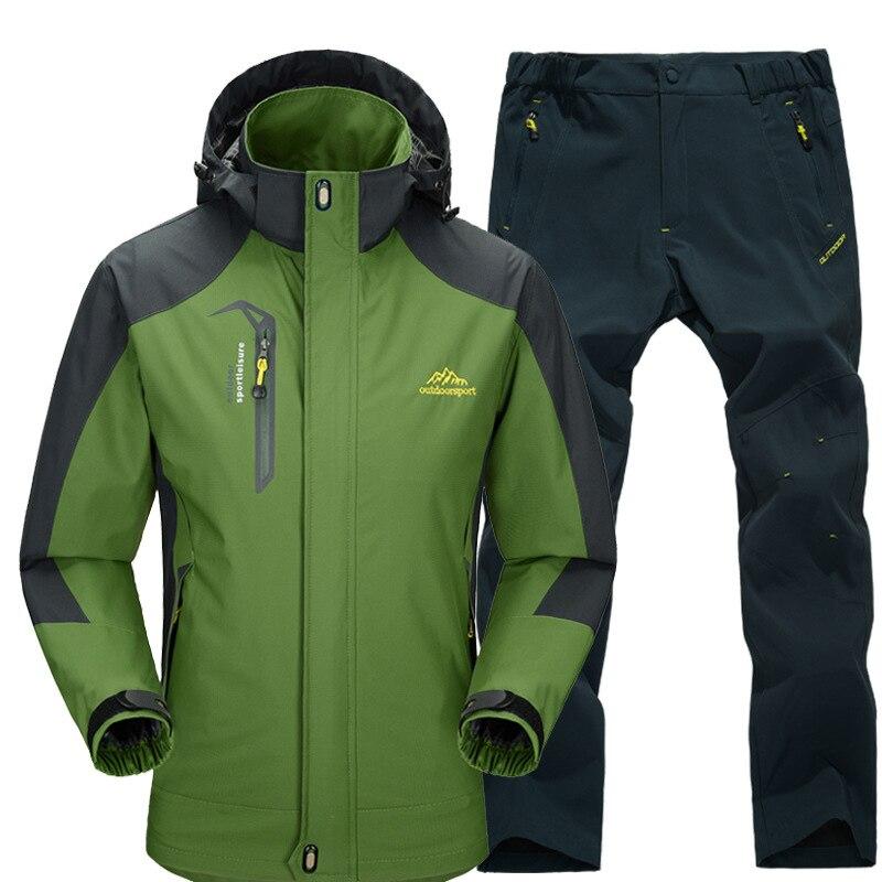 New Ski Suit Men Skiing And Snowboarding Sets Outdoor Warm Waterproof Windproof Jacket+Pant Autumn Winter Snow Suit Multicolor