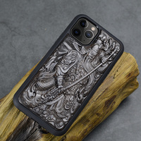 For iPhone 11 Pro Max Cases Luxury Enony Wood 3D Carved Wooden Silicon Protect Back Cover Case For iPhone X XR XS Max 8 7 6 plus