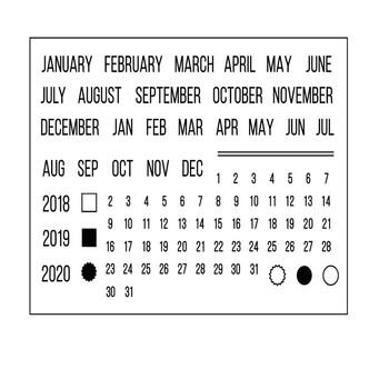11 #215 16 kalendarz nowy przezroczysty przezroczysty arkusz pieczęć przybory Photo Album Scrapbooking karta papieru DIY Craft tanie i dobre opinie