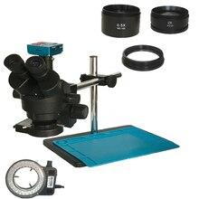 1080P 30MP HDMI USB C montaj Video kamera 3.5X 90X simul odak devam trinoküler mikroskop telefonu lehimleme PCB onarım araçları