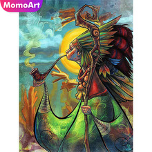 MomoArt Always moment diamond painting cross stitch Indian mystical art full 5D embroidery mosaic crafts home decor