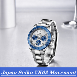 2020 PAGANI DESIGN Casual Sport Watches For Men Luxury Quartz Waterproof WristWatch Fashion Blue Chronograph watch Montre Homme