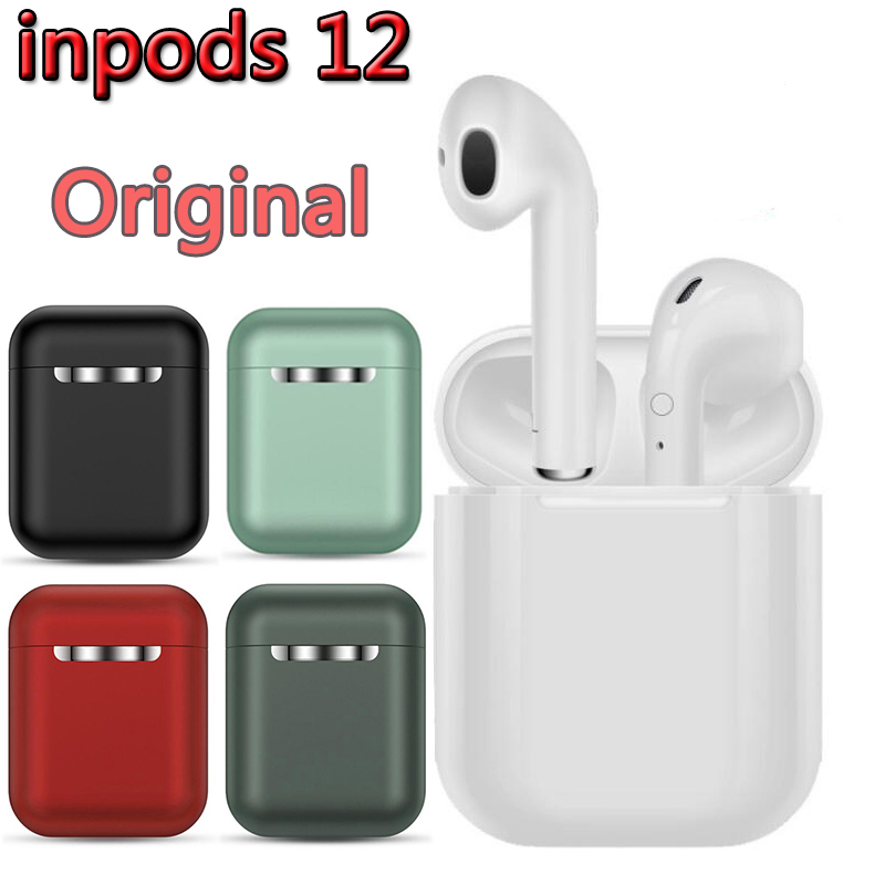 InPods 12 TWS Wireless Headset Bluetooth 5.0 Touch Sport Earphones Stereo For IPhone Xiaomi Huawei Samsung Android Phone