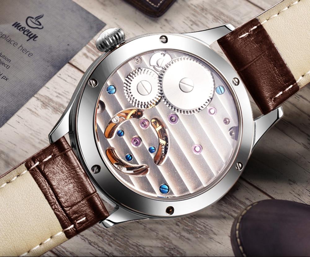 Original Tourbillon watch GUANQIN 2019 NEW clock men waterproof mechanical Sapphire leather top brand luxury Relogio Masculino 5