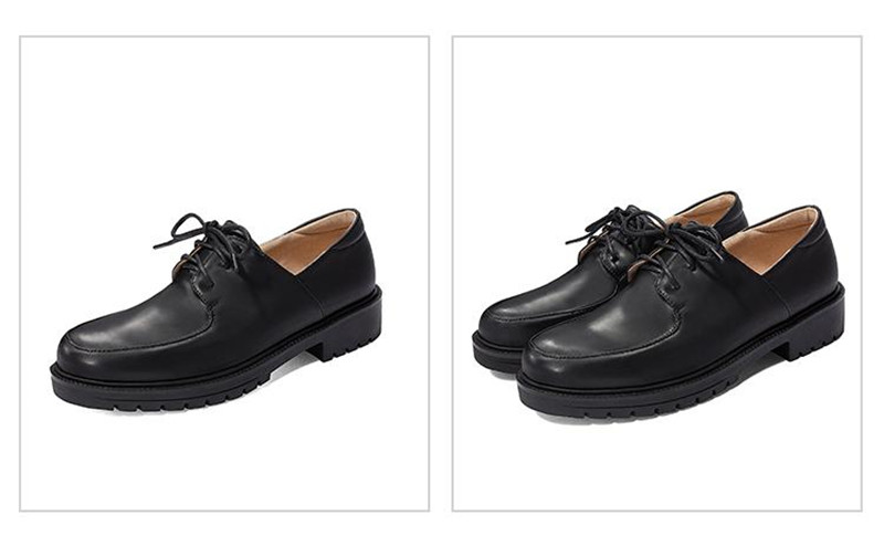 2020 British Style Soft Leather Women Flats Oxfords Black White Flat Oxford Shoes For Woman Round Toe Student Brogue Shoes (24)
