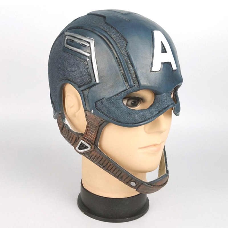Image 5 - Captain America Cosplay Mask  Costume Party Helmet Props Civil War Halloween Soft Latex MaskerBoys Costume Accessories   -