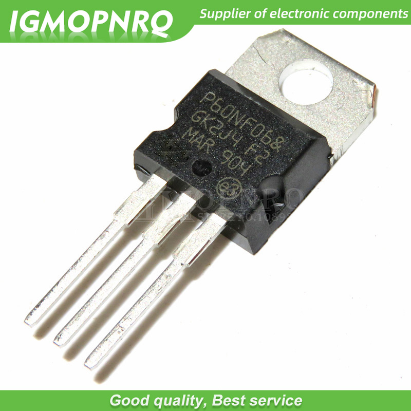 10PCS free shipping <font><b>P60NF06</b></font> STP60NF06 MOSFET N field effect tube 60V 60A TO-220 100% new original image