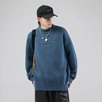 Suéter cálido de cuello alto para hombre, Jersey informal de moda, Jersey grueso, ropa de calle de marca, de gran tamaño