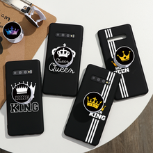 King Queen Couple Stand Holder Cases For Samsung Galaxy S20 Ultra S10 S9 S8 Plus S6 S7 Edge Note 10 Lite 9 8 5 M20 M30 A91 Coque lavaza fashion girl silicone case for samsung s6 edge s7 s8 plus s9 s10 s10e note 8 9 10 m10 m20 m30 m40