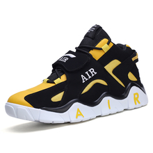 Men High-top Basketball Shoes Men's Mix Color Light Basketball Sneakers Anti-skid Breathable Outdoor Sports Shoes Men Basket