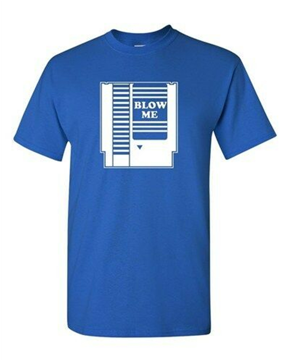 BLOW ME Game Cartridge Adult T-Shirt All Sizes