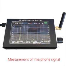Портативный анализатор спектра 35 м-4400 МГц генератор сигналов анализатор спектра с 4,3 дюйма дисплей TSH магазин