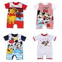 Baby Jungen Kleidung Mickey Baby Strampler Disney Kinder Kleidung Minnie Strampler Roupas Bebes Säuglings Overall Newfashion Jungen Kleidung-in Strampelanzüge aus Mutter und Kind bei