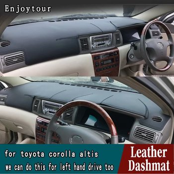 For Toyota Corolla 2003 2004 2005 2006 Leather Dashmat Dashboard Cover Pad Dash Mat Carpet Car Styling Accessories Custom RHD