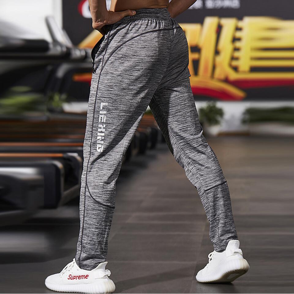 New Fitness Men Joggers Sweatpants Thin Gray Sportswear Jogger Pants Men Casual Trousers Men Gyms Bodybuilding Track Pants