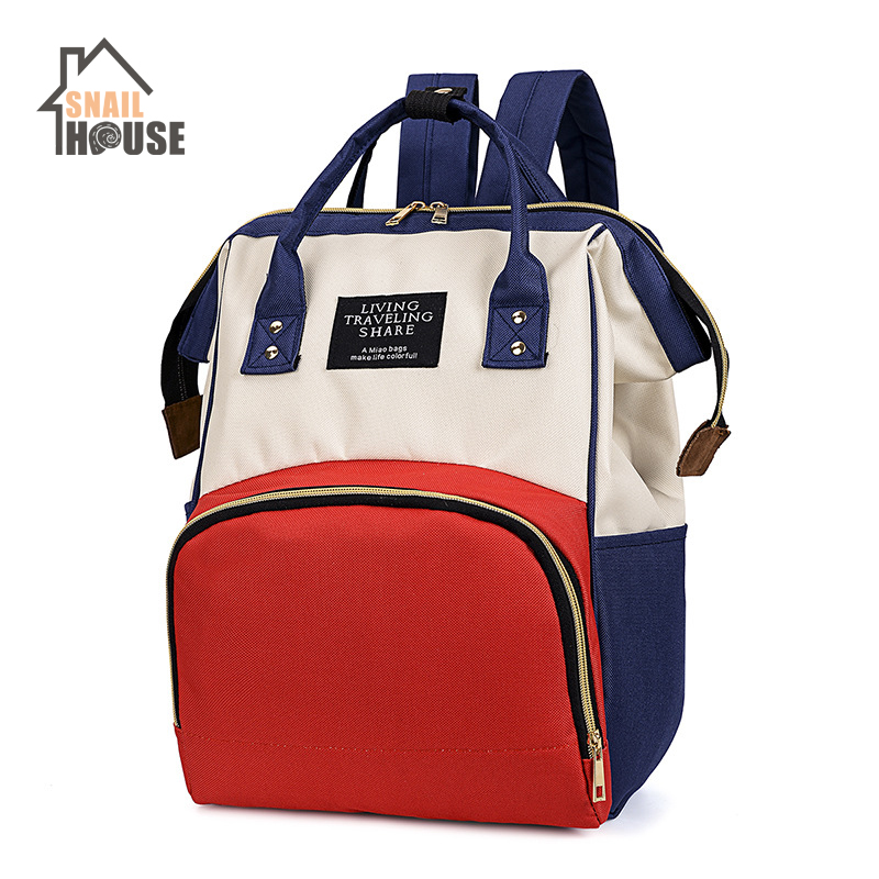 Snailhouse NEW Fashion Mummy Maternity Nappy Bag Large Capacity Diaper Bags Outdoor Travel Backpack Nursing Bags Women  Baby Bag