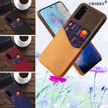 Card Slots Case PU Leather Business Case For Samsung Galaxy S20 Ultra S20 S10 Plus Note 10 Plus 5G Note 9 8 S10e S10 5G S9 S8 image