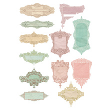 2 uds Color patrón Vintage cartel DIY sin cortar decoración Scrapbook, artículos de papelería, diario etiqueta engomada de planificador etiqueta bonita viajes pegatinas