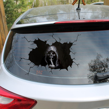Araba Sticker korkunç kafatası çıkartmaları Sticker su geçirmez kemik iskelet pencere tampon kamyon SUV ev kapı duvar Sticker ev dekor