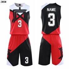 Детский баскетбольный костюм для взрослых Детская Мужская баскетбольная форма спортивный комплект, рубашки и шорты, комплект, тренировочный костюм с китайским принтом на заказ
