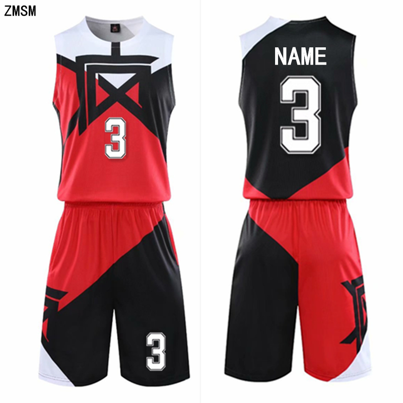 Kids Adult Basketball Jerseys Suit Child Men Basketball Uniform Sport Kit Shirts Shorts Set Chinese Printed Training Wear Custom