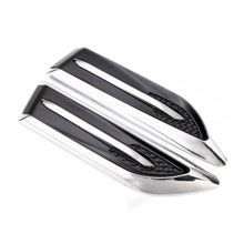 2pcs Car Side Air Flow Vent Cover Intake Decoration Stickers Hole Grille sticker Chrome trim Car-styling