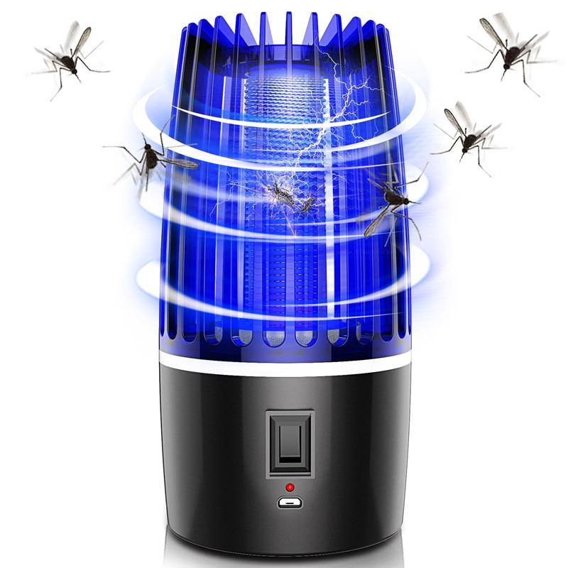 Перезаряжаемые от производителя; Электрическое средство от комаров убийца лампы 4000 мА/ч, питаемые через USB порт мата ловушка для комаров нас...
