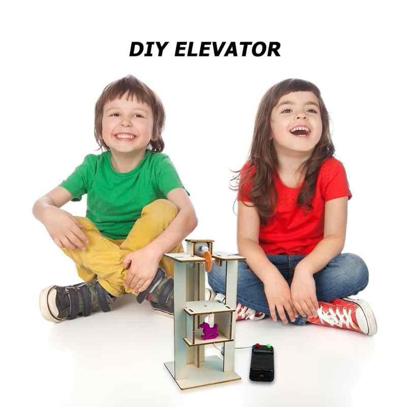 FAI DA TE di Controllo A Distanza di Sollevamento Elettrico Ascensore Bambini Giocattoli di Scienza Esperimento Kit Creativo STEM Istruzione Innovazione Progetto Scuola
