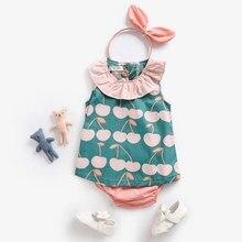 Sanlutoz yaz bebek giyim setleri sevimli desen yürümeye başlayan gömlek + şort 2 adet rahat bebek giyim