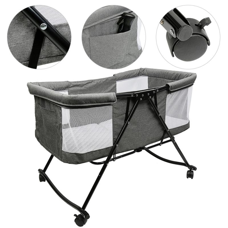 Foldable Baby Cribs Travel Baby Bed Portable Children Baby Beds With Mosquito Nest Baby Furniture Sleeping Bed For Newbron HWC