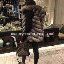 New 2019 Fashion Women ladies Sable color natural fox fur ve