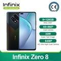 Новый Infinix ноль 8 глобальная Версия 8GB 128GB смартфон 6,85 ''fhd 90 Гц Full Экран 64-мегапиксельная четырехъядерная камера 4500 мА/ч, Батарея 33 Вт Зарядное ...