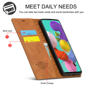 Image 3 - Luxury Case For Samsung Galaxy A21S Case Leather Flip Wallet Magnetic Card Bags Case Samsung Galaxy A21S Phone Cover Stand