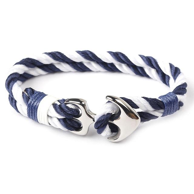 Bracelet corde nautique Viking ancre  2