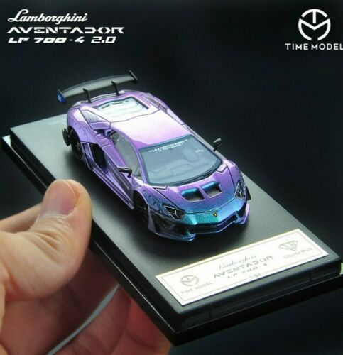 Time Model 1/64 LB LP700-4 Aventador 2.0 Super Racing Chameleon Die-cast Toy 1:64 Model Car Supercar Vehicle With Case