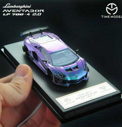 Time Model 1/64 LB LP700-4 Aventador 2.0 Super Racing Chameleon Die-cast Toy 1:64 Model Car Supercar Vehicle With Case