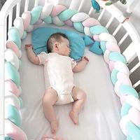 1 м/2 м/3 м Детская кровать бампер плетеная Подушка с узлом Подушка бампер для украшения детской комнаты младенец Bebe Защита детская кроватка б...