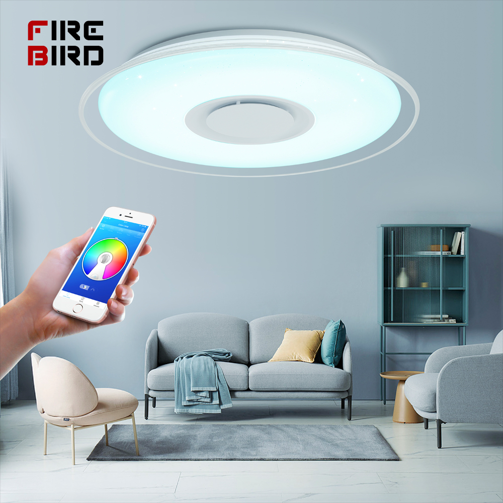 Modern LED ceiling Light RGB Remote control 36W 52W ceiling lamp APP Bluetooth Music living room Modern LED ceiling Light RGB Remote control 36W 52W ceiling lamp APP Bluetooth Music living room lamps bedroom ceiling+lights