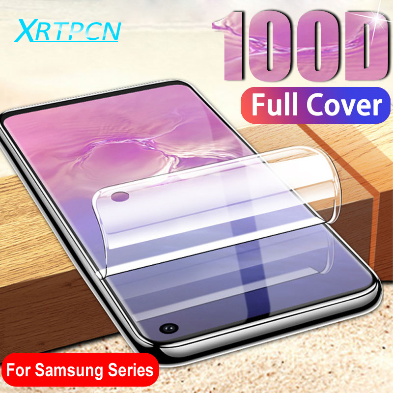 100D Screen Protector Hydrogel Film On For Samsung Galaxy S10 S9 S8 Plus S10E Note 8 9 10 Pro Protective Soft Film Not Glass