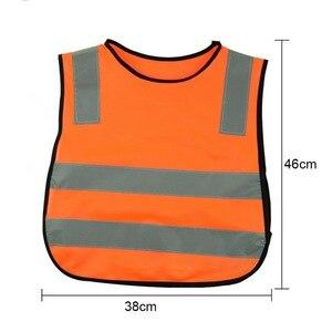 Image 3 - 反射ベスト、高視認性児童生徒子供反射ベストサッカーサイクリング安全ベストジャケット道路交通衛生新しい