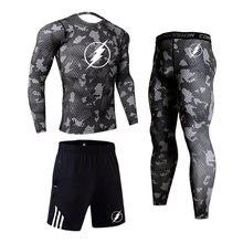 Костюм спортивный мужской компрессионный модная трендовая одежда