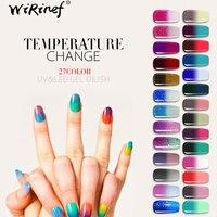WiRinef Temperatur Gel Polnischen Thermische Ändern Gel Lack UV Thermo Chameleon Hybrid Lack Semi Permanent Gel Polnisch