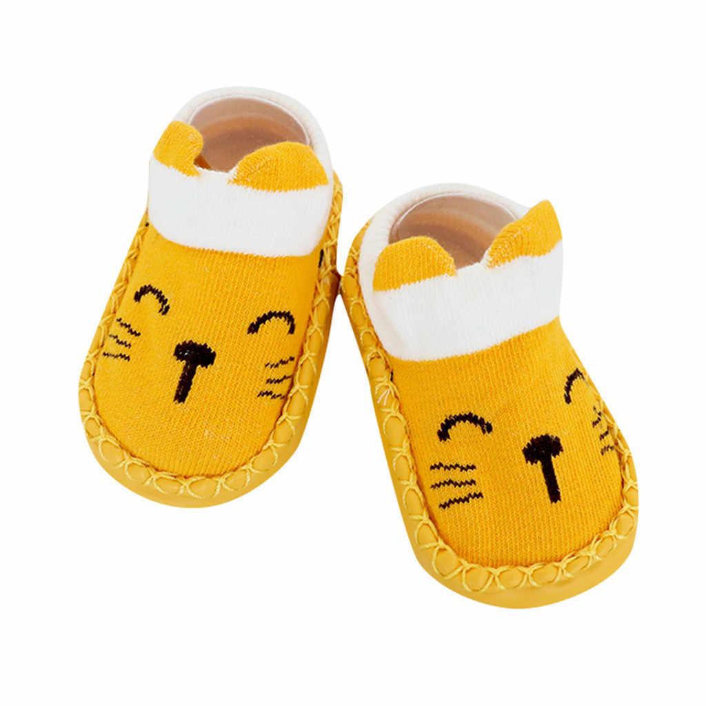Çorap bebek çocuk karikatür yenidoğan bebek kız erkek kaymaz çorap terlik ayakkabı çizmeler sonbahar kış gri, mavi, sarı, pembe z8