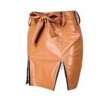 Женская модная сексуальная облегающая юбка дизайнерская из искусственной