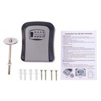 Сейф для ключей, 4 цифры, комбинированный пароль, коробка для ключей, органайзер для ключей, чехол, настенный, для дома, защитный замок, инстру...