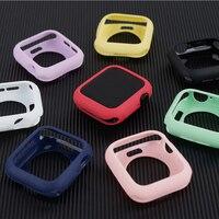 Funda protectora de silicona para Apple Watch, funda de 44mm y 40mm para iWatch de 42mm y 38mm, accesorios para Apple watch series SE 6 5 4 3 2