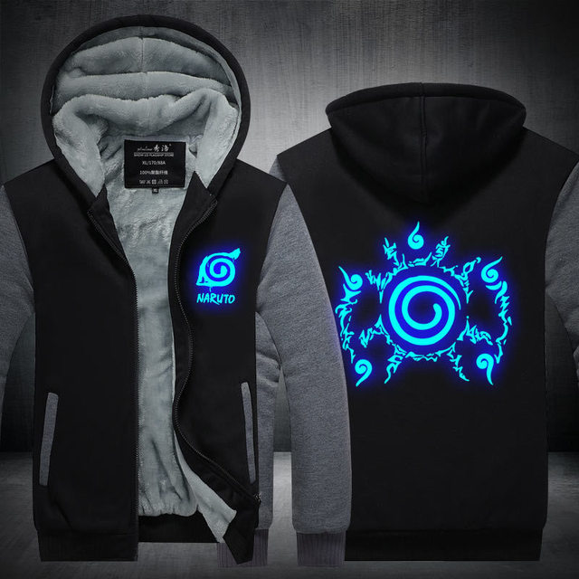 NARUTO LUMINOUS ZIP-UP COAT HOODIE JACKET (12 VARIAN)